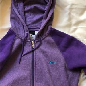 Nike Zip Up In Purple